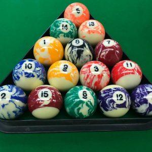 Marble Pool Balls