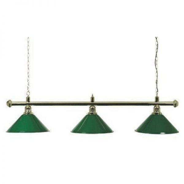 Pool Table Lighting Canopy Green