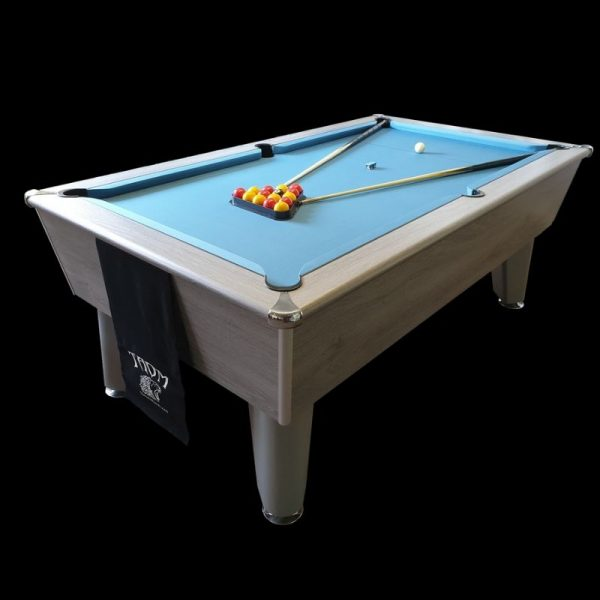 Aztec Blackball Silver Oak Pool Table