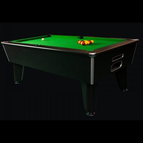 Aztec Blackball Black Pool Table