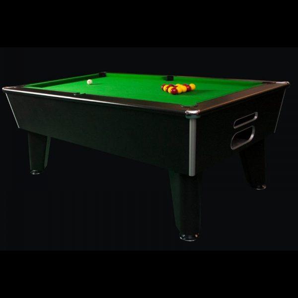 Aztec Blackball Black Pool Table
