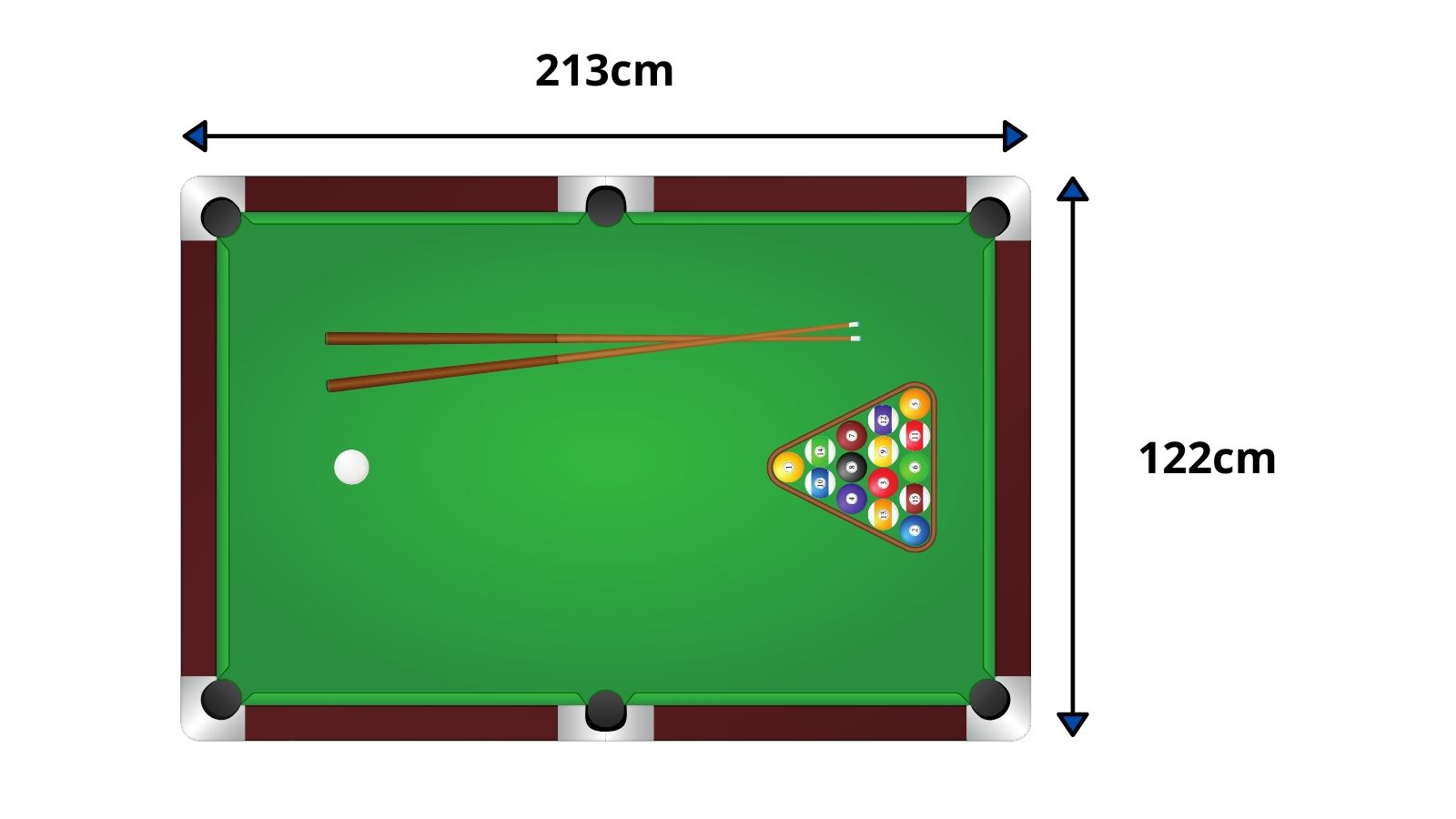 7 x 4 foot pool table dimensions