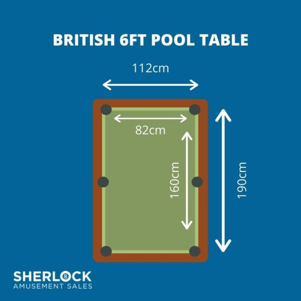 Sherlock 6 x 3 Pool Table Dimensions