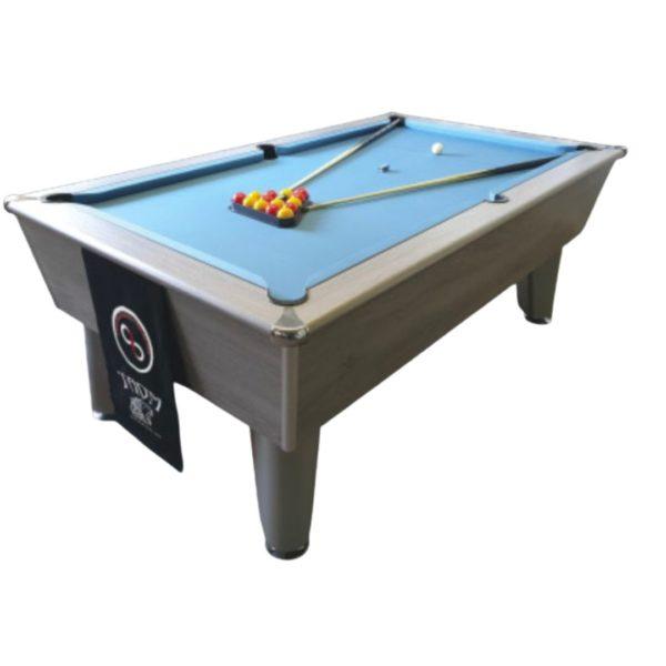Blackball Silver Oak Pool Table