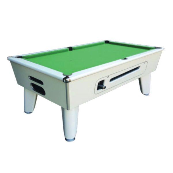 Blackball White Pool Table